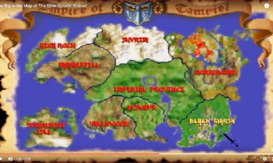 Map Elder Scrolls Arena