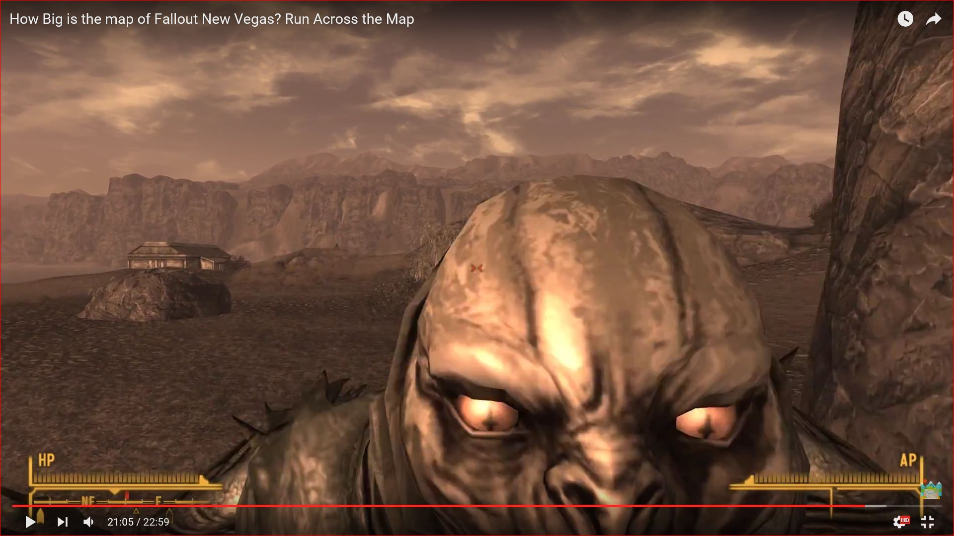 Fallout New Vegas - Run Across the Map - How Big is the Map