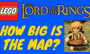 Lego Lord of the Rings map