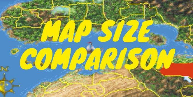 Map Size Comparison