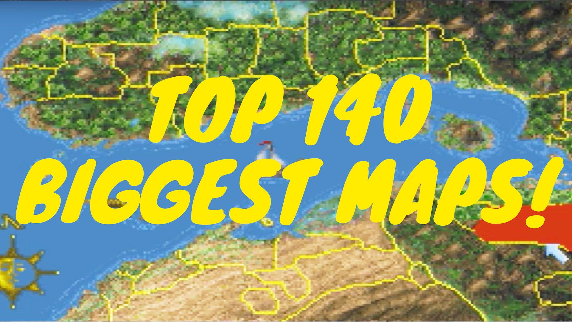 Video Games Maps Size Comparison Top 140 Biggest Maps How Big