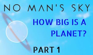 How big is a planet in No Man's Sky