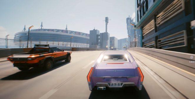 Cyberpunk Drive across the map