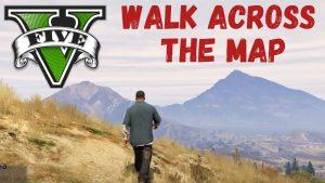 GTA V Walk across the map
